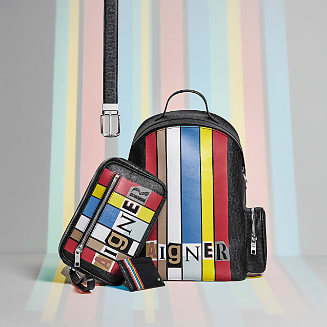 0547f9a002dcc1 The classic AIGNER design pattern meets the current DADA pattern in this Titus  backpack. The result is an unprecedented design that immediately attracts  ...